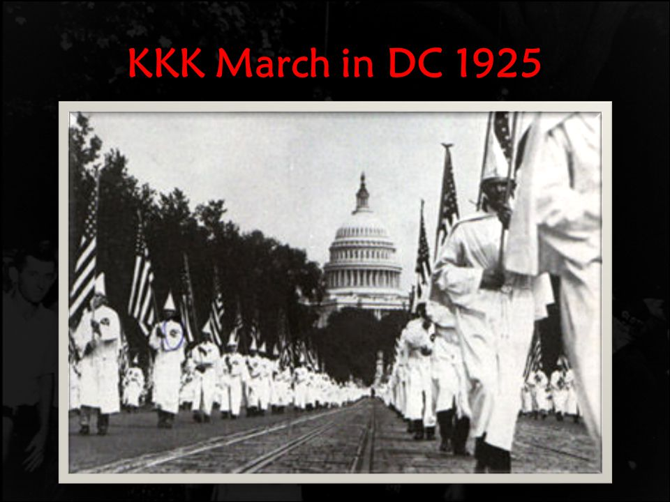 KKK March in DC 1925