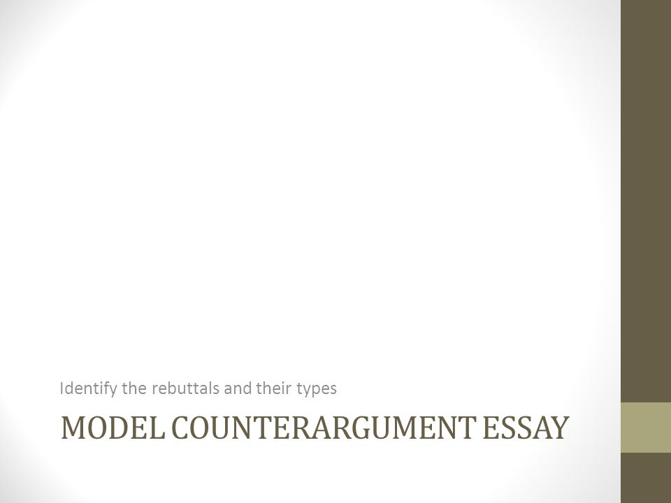 counterargument essay