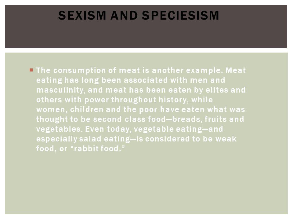 Sexism and Speciesism