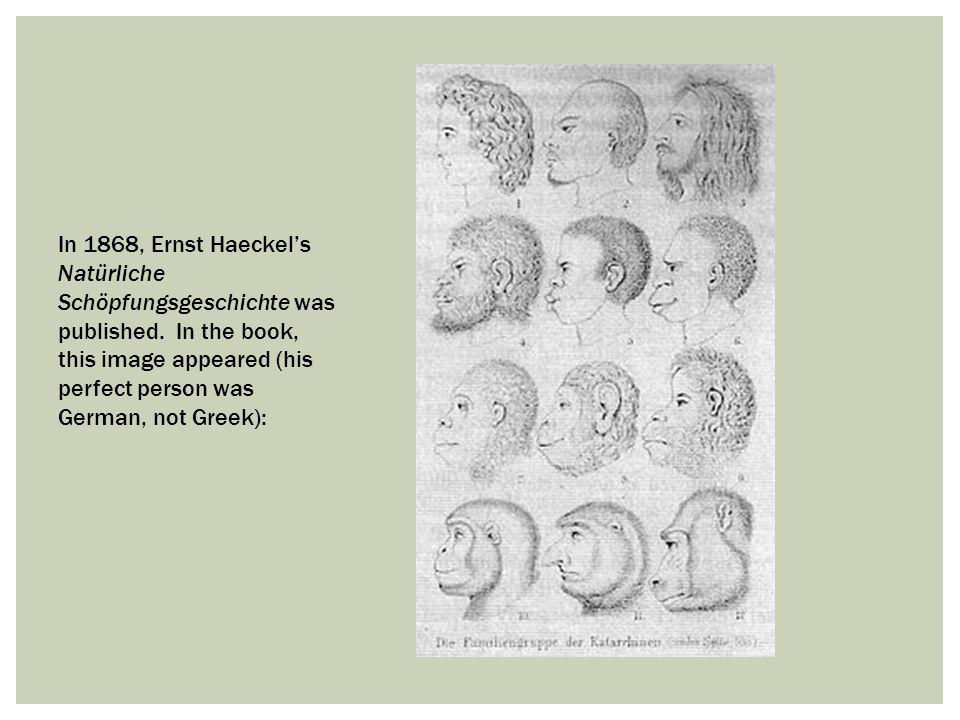 In 1868, Ernst Haeckel's Natürliche Schöpfungsgeschichte was published
