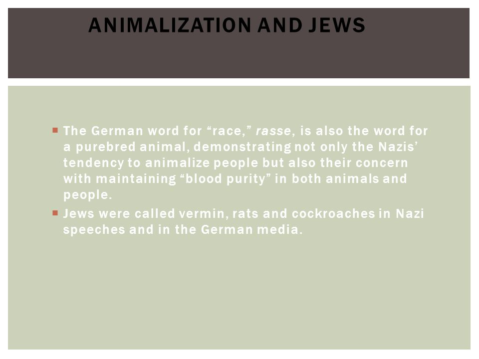 Animalization and Jews
