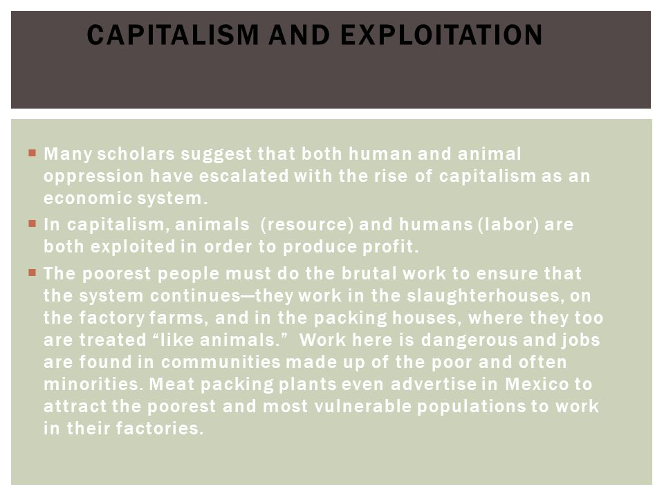 Capitalism and Exploitation