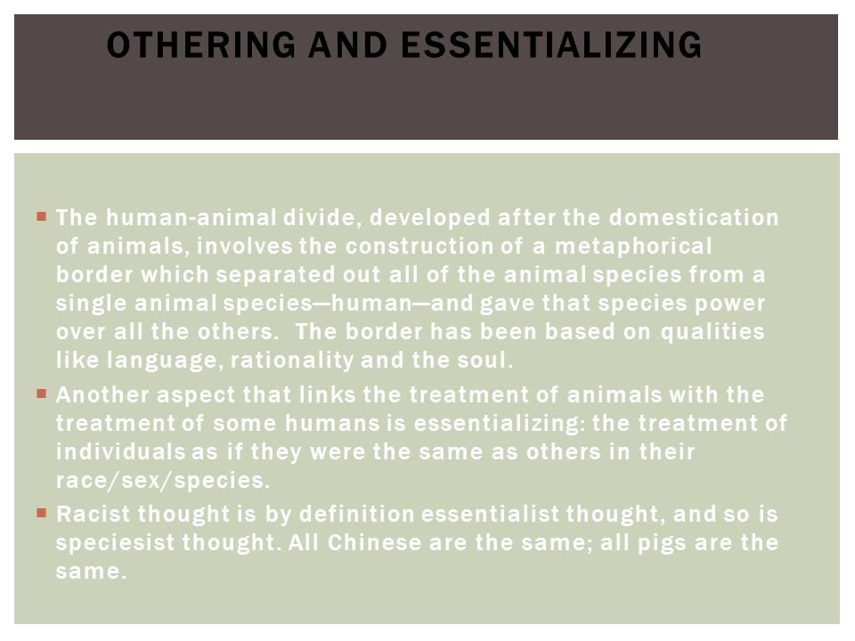 Othering and Essentializing