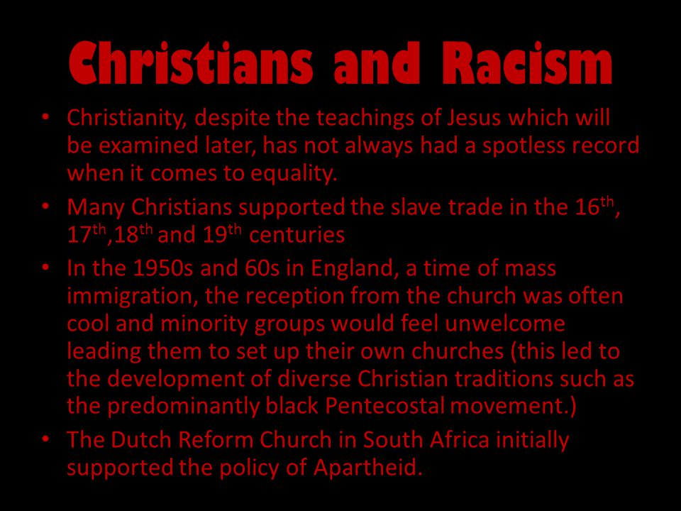 Christians and Racism