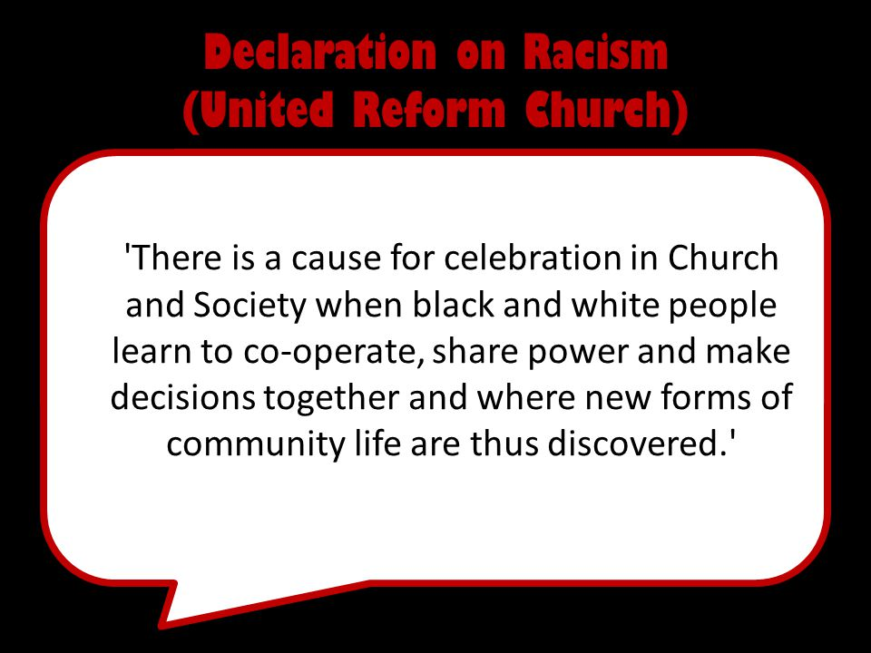 Declaration on Racism (United Reform Church)
