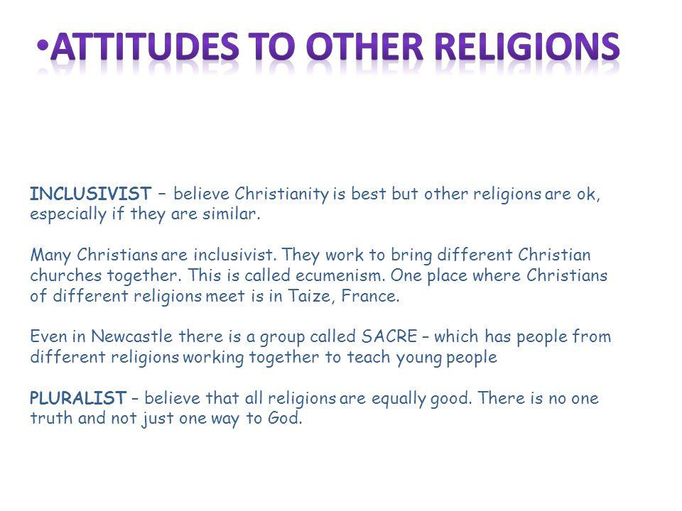 Attitudes to other religions