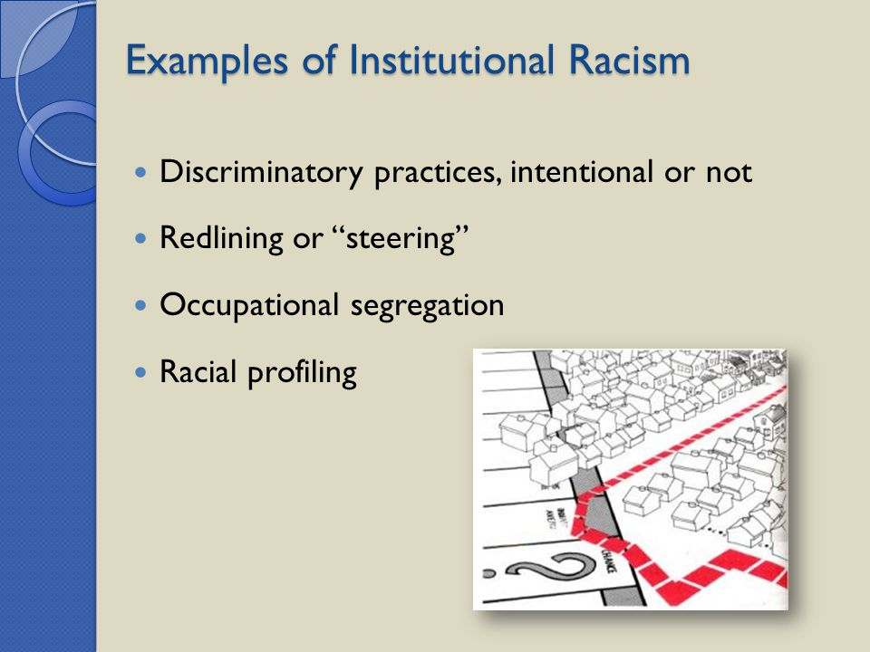 Examples of Institutional Racism
