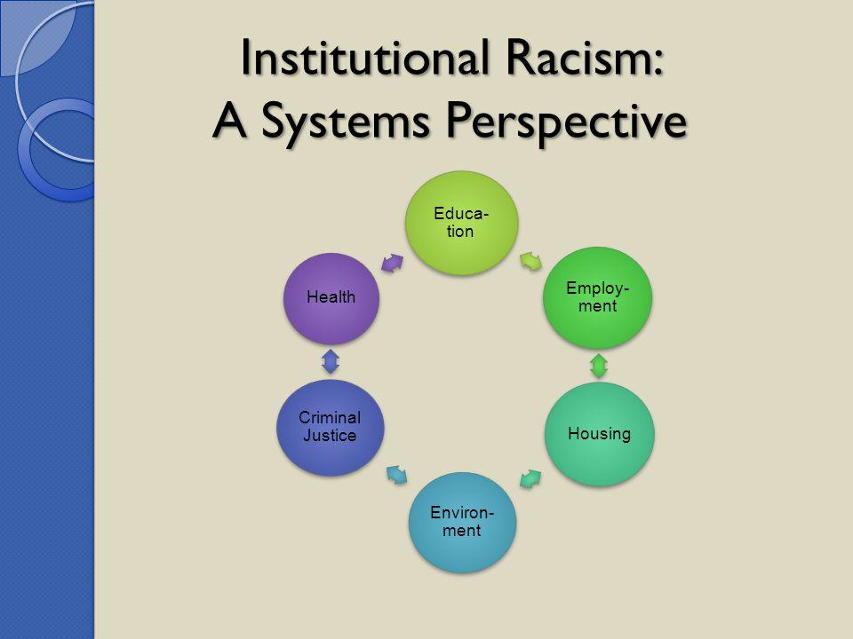 Institutional Racism: