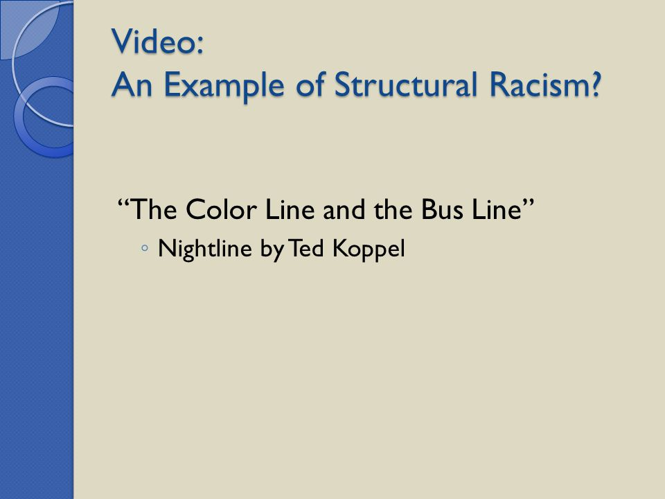 Video: An Example of Structural Racism