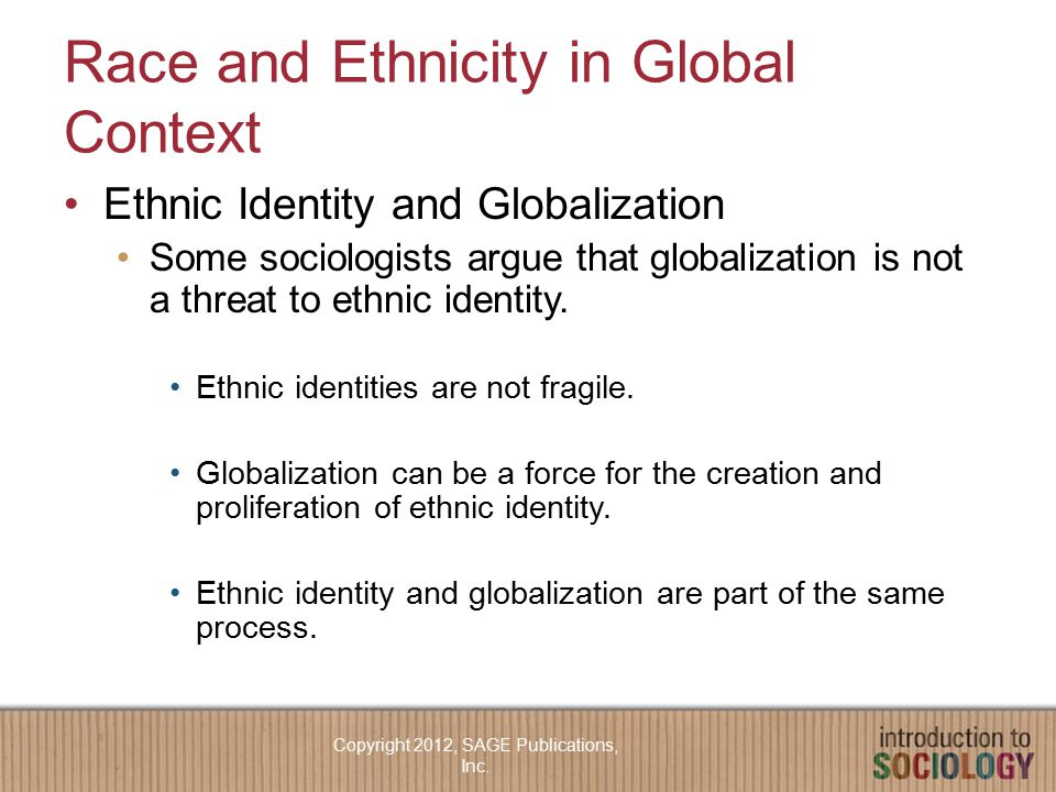 Race and Ethnicity in Global Context