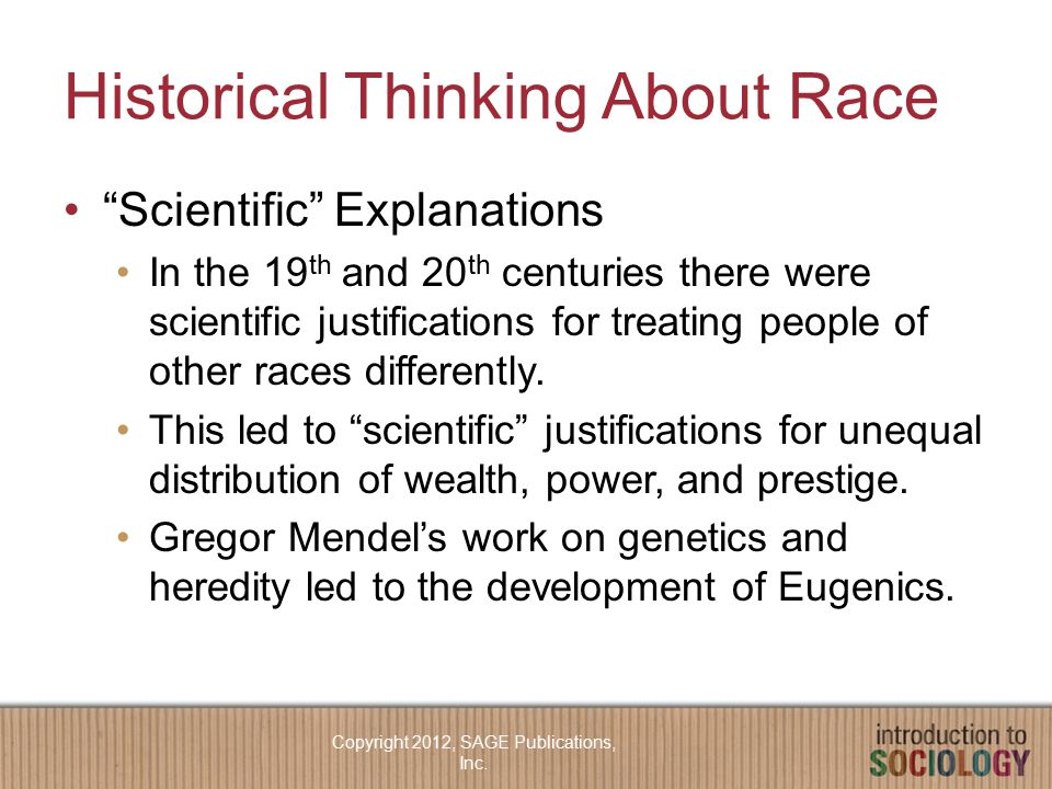 Historical Thinking About Race