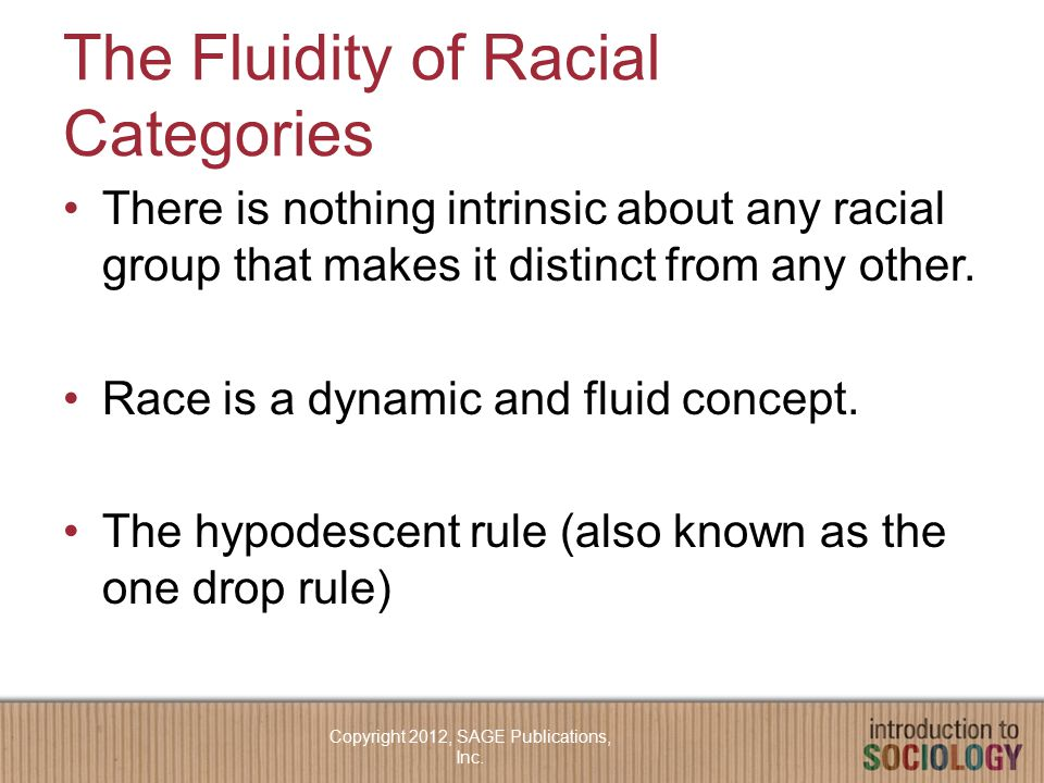 The Fluidity of Racial Categories