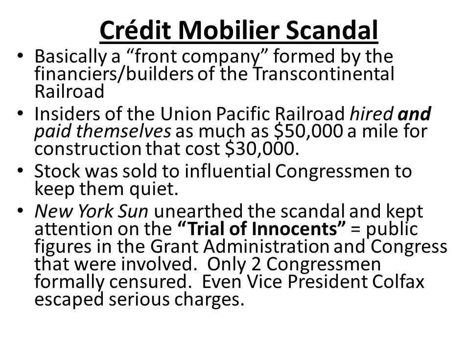 Crédit Mobilier Scandal