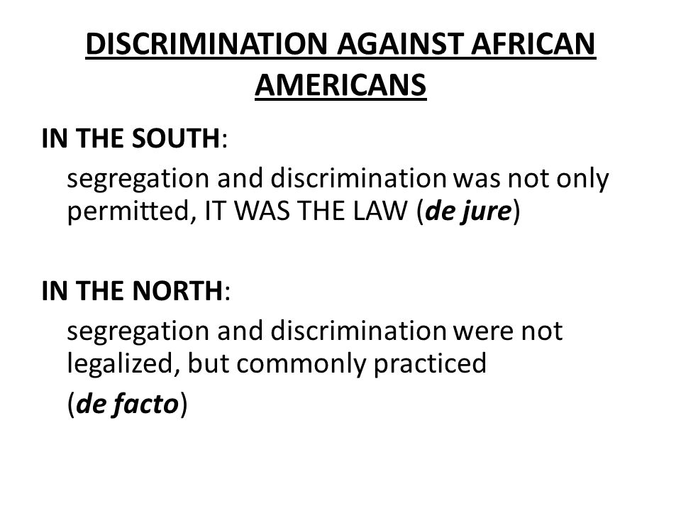 media discrimination against african americans Discrimination and the media in a study of the latin american media was was the limited children can exacerbate discrimination against children as a.