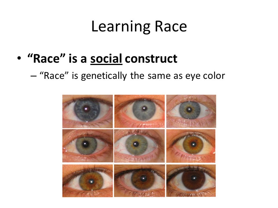 A Look at Race as a Social Construct
