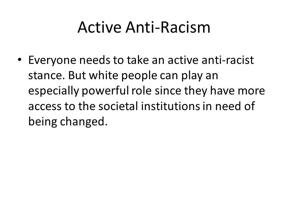 Active Anti-Racism