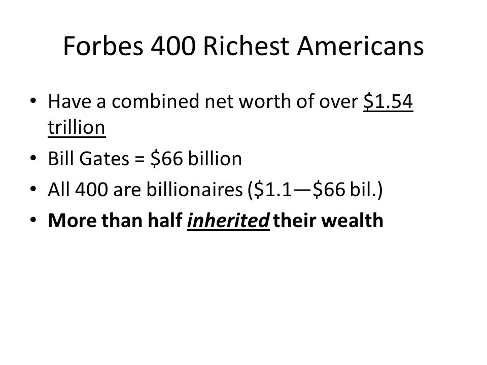 Forbes 400 Richest Americans