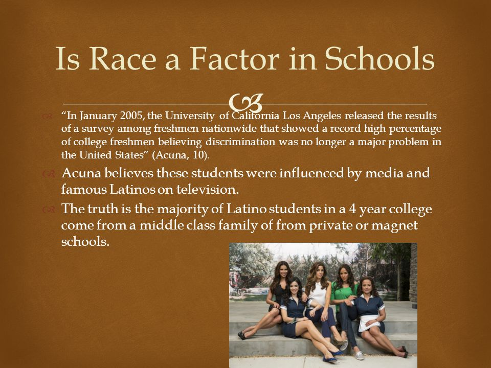 Is Race a Factor in Schools