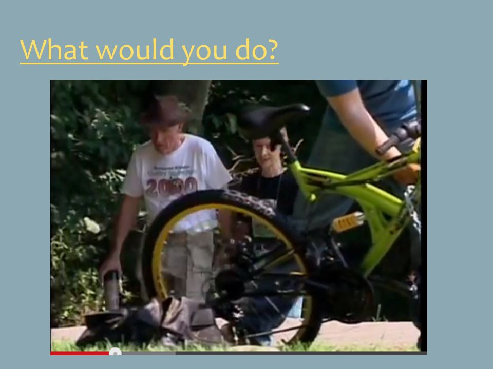What would you do http://www.youtube.com/watch v=ti5ZFmglzV4