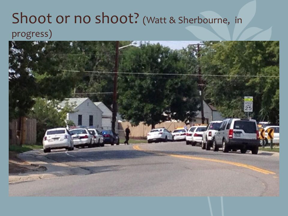 Shoot or no shoot (Watt & Sherbourne, in progress)