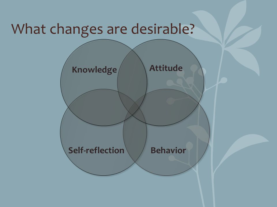 What changes are desirable