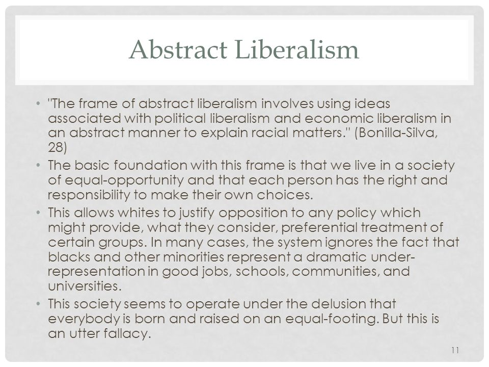 Abstract Liberalism