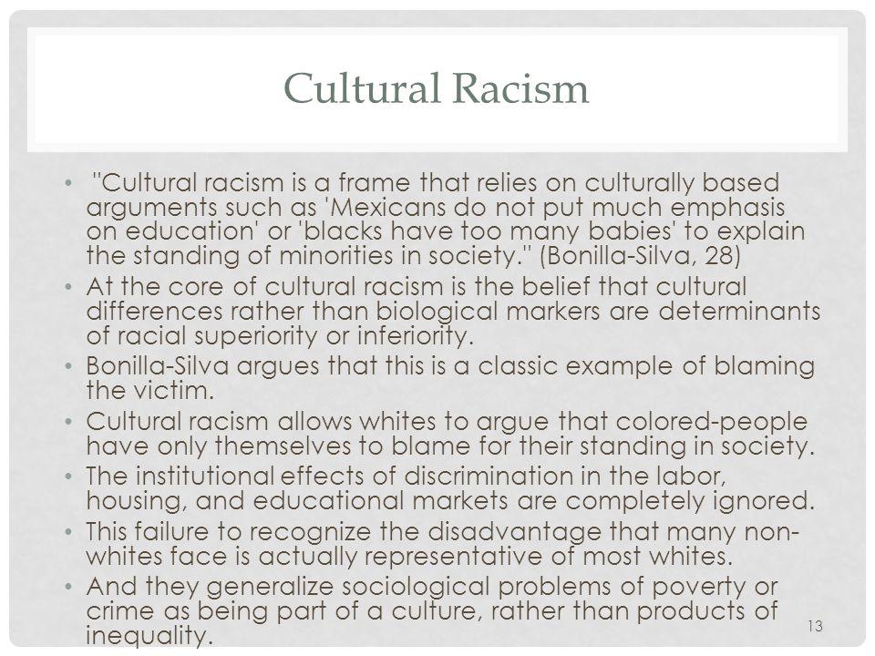 Cultural Racism
