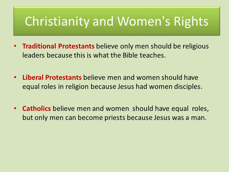 Christianity and Women s Rights