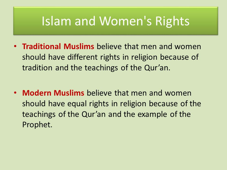 Islam and Women s Rights