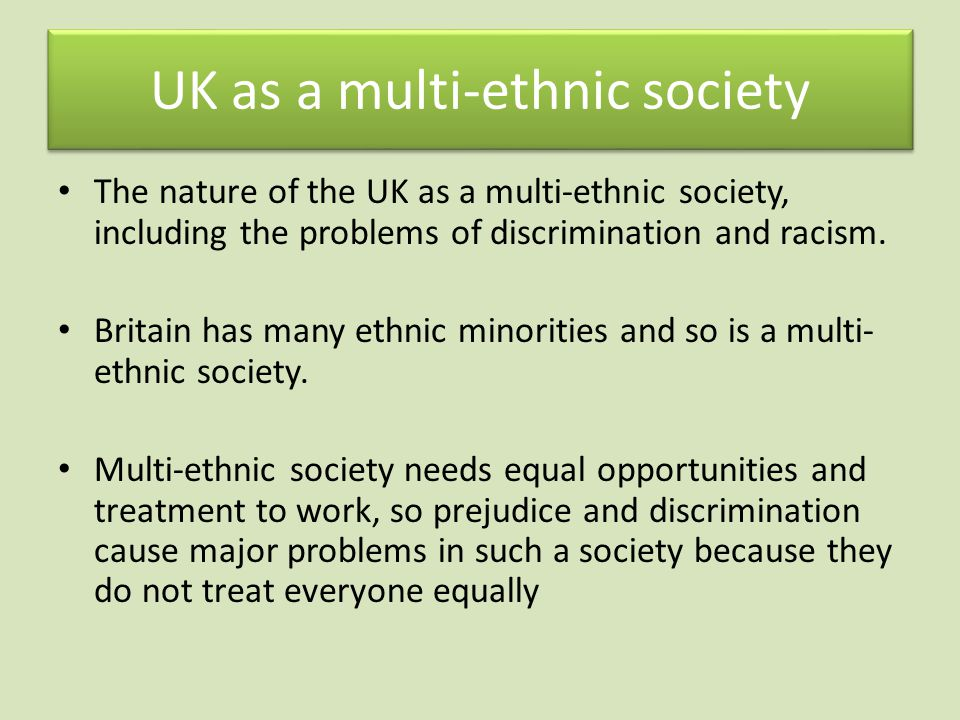 UK as a multi-ethnic society