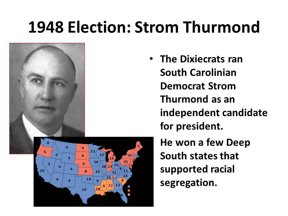 1948 Election: Strom Thurmond
