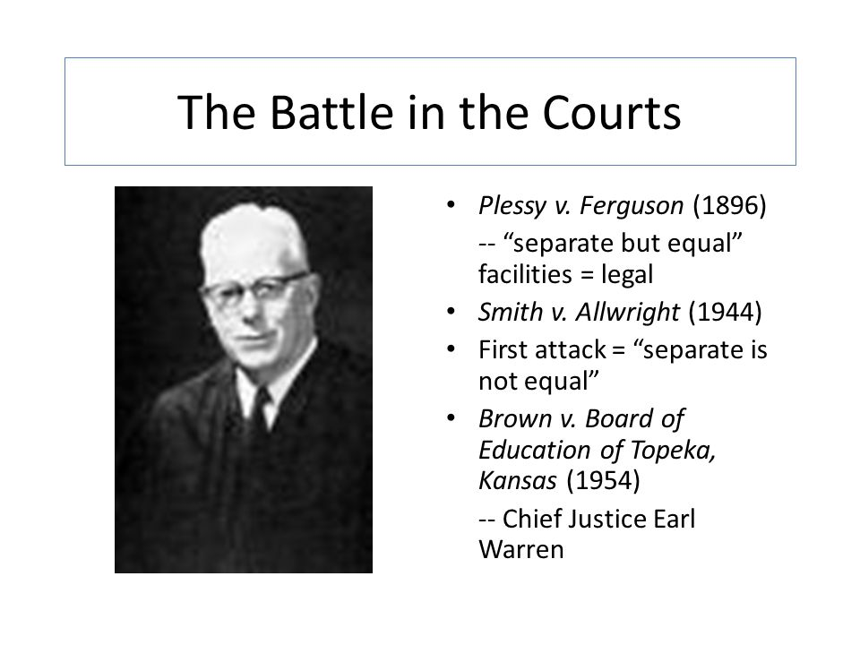 The Battle in the Courts