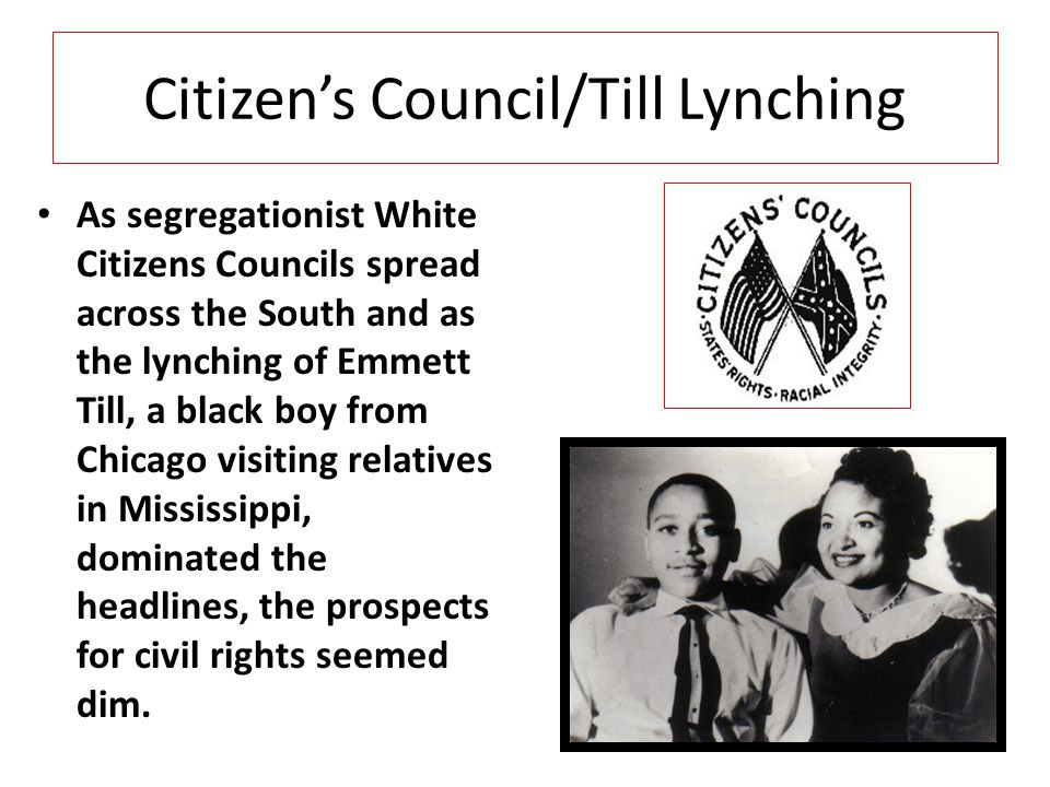 Citizen's Council/Till Lynching