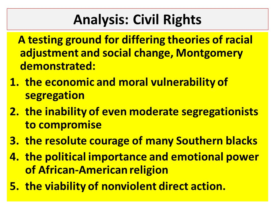 Analysis: Civil Rights