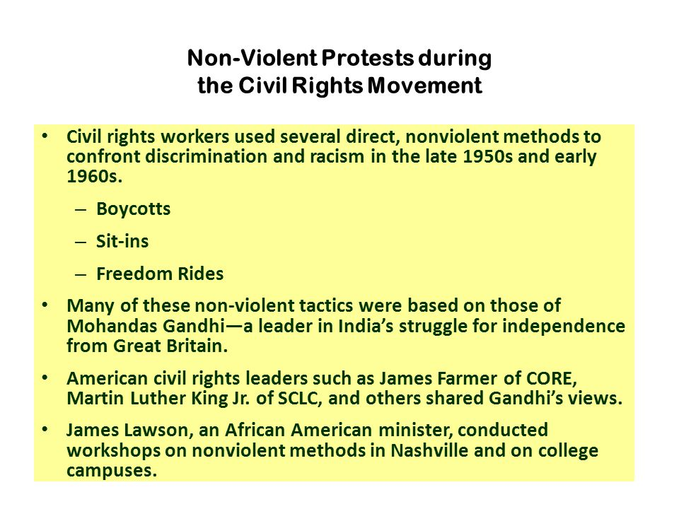 Non-Violent Protests during the Civil Rights Movement
