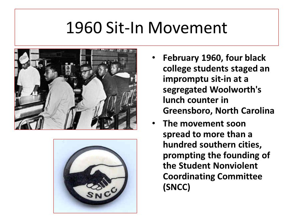 1960 Sit-In Movement