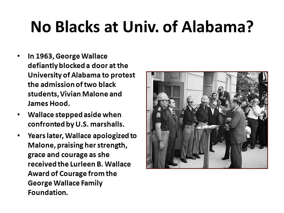 No Blacks at Univ. of Alabama