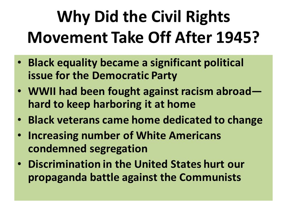 how did the civil rights movement change america Gives an overview of the civil rights movement the civil rights movement in america paperback book 417 595 three civil rights workers disappeared on.