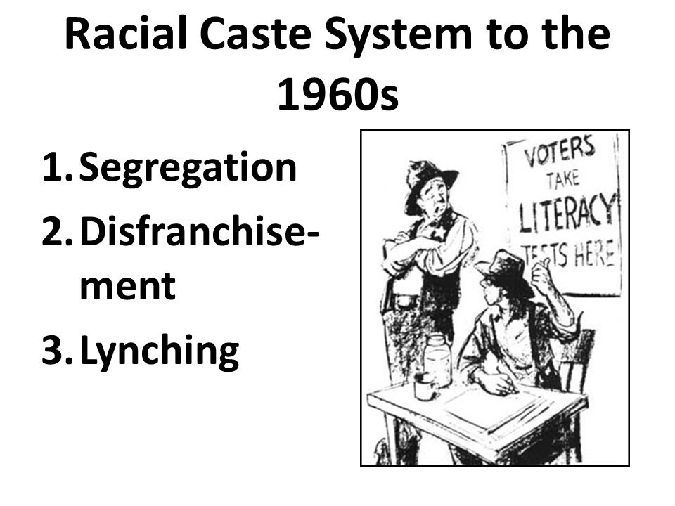 Racial Caste System to the 1960s