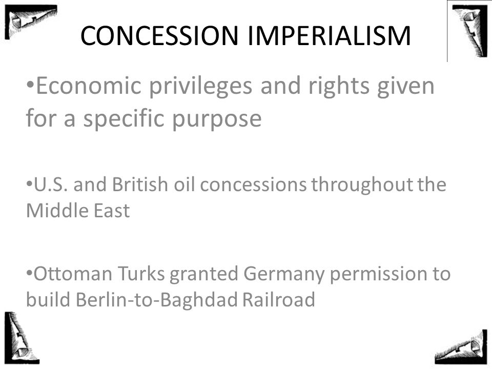 CONCESSION IMPERIALISM
