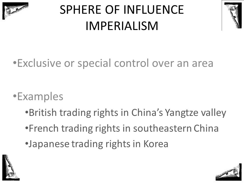 SPHERE OF INFLUENCE IMPERIALISM