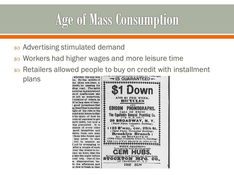 Age of Mass Consumption