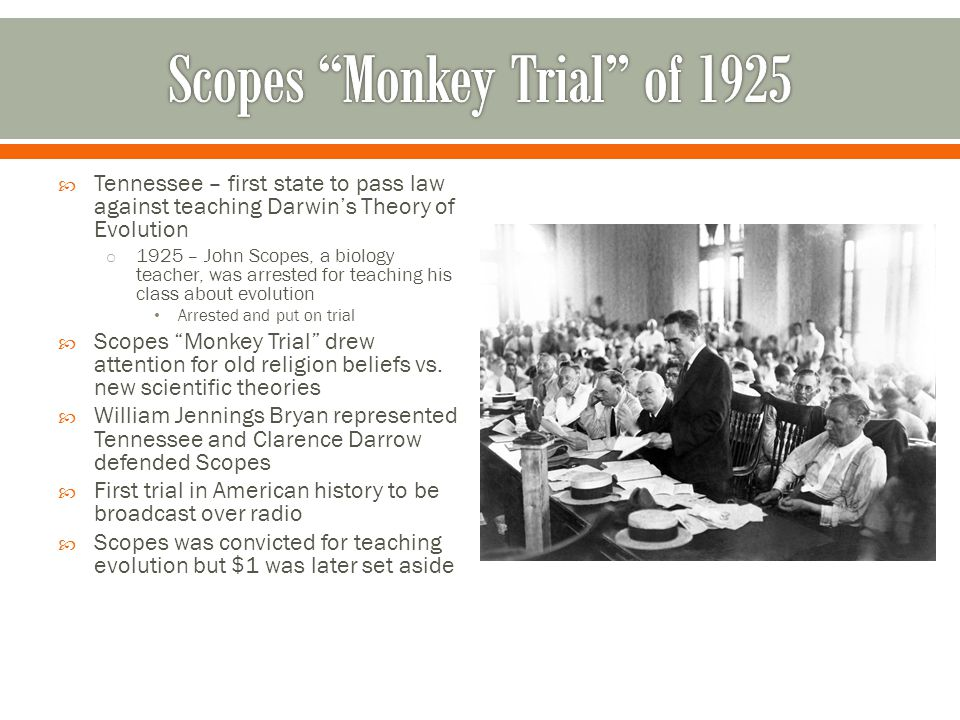 Scopes Monkey Trial of 1925