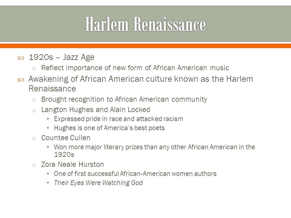 Harlem Renaissance 1920s – Jazz Age