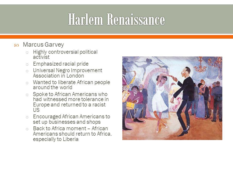 Harlem Renaissance Marcus Garvey