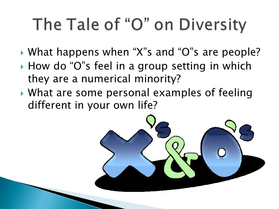The Tale of O on Diversity