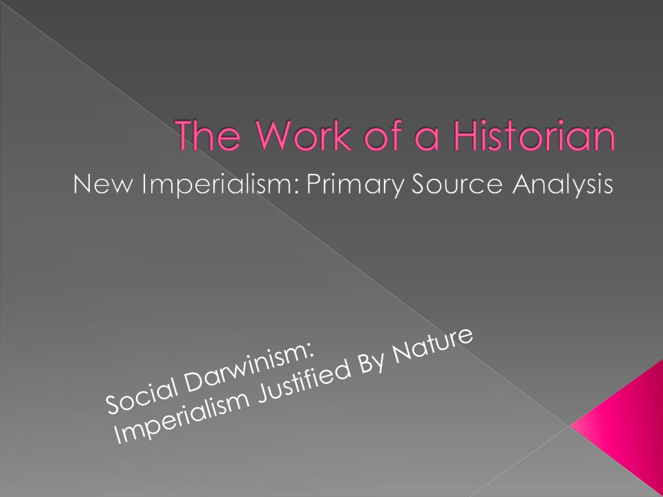 New Imperialism: Primary Source Analysis