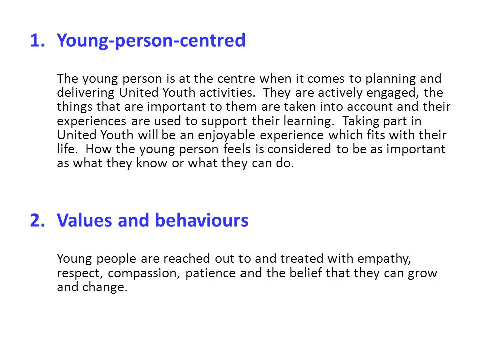 Young-person-centred