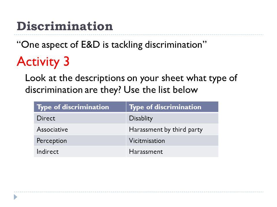 Activity 3 Discrimination