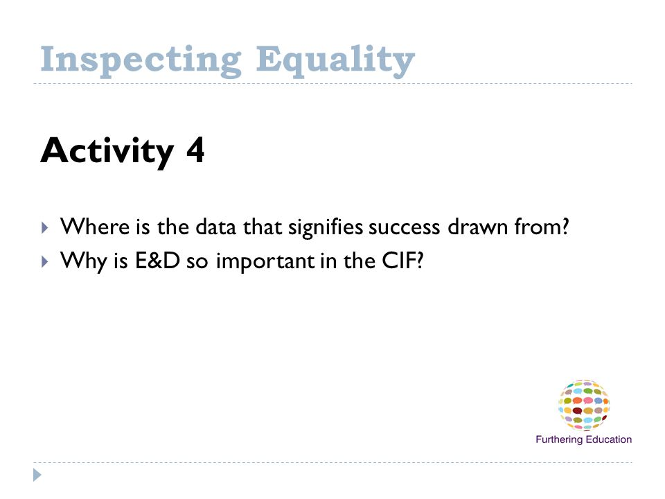 Inspecting Equality Activity 4